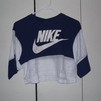 Vintage 1980s Nike half shirt blue tag football jersey medium