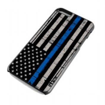 Thin Blue Line Flag for iphone 6 plus case