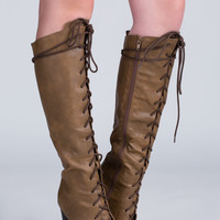 Go Chunky Laced Knee-High Boots