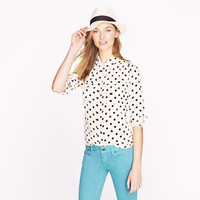 Blythe blouse in polka dot - blouses - Women's shirts & tops - J.Crew