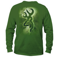 "Browning Camo ""Morning Mist"" Long Sleeved T-shirt"