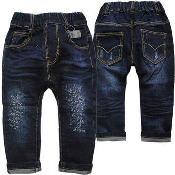 new kids trousers spring autumn soft denim jeans size 234t