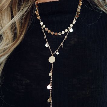 Searching For You Necklace: Gold