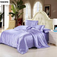 VESCOVO Luxury Mulberry silk bedding sets duvet cover bedspread bed sheet king/queen/full size silk bedding