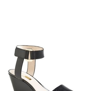 "Women's Louise et Cie 'Phiona' Leather Ankle Strap Wedge Sandal, 2 1/2"" heel"
