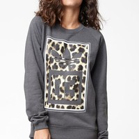 adidas Cheetah 03 Crew Neck Sweatshirt - Womens Hoodie - Grey