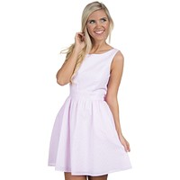 The Emerson Seersucker Dress in Pink by Lauren James - FINAL SALE