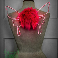 mini glowing butterfly wings, halloween costume for kids (or not!)