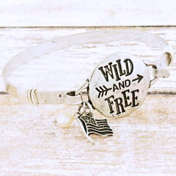 Wild and Free Silver Bangle