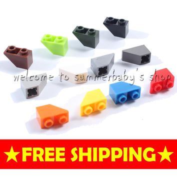 Toy slope brick 45 2*1 inverted 140P DIY kid diamond Building blocks enlighten playmobil ABS decool lego Compatible
