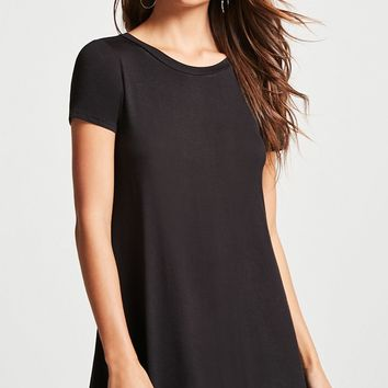 V-Cutout T-Shirt Dress