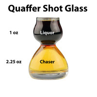 GLASS QUAFFER SHOT GLASS - SHOT WITH A CHASER