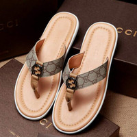 shosouvenir :Gucci: Casual Fashion Women Man Sandal Slipper Shoes