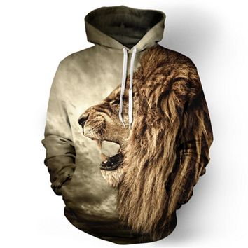 Lion/ Tiger Hooded Sweatshirt
