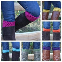 Crochet Boot Toppers Boot Cuffs Leg.. on Luulla