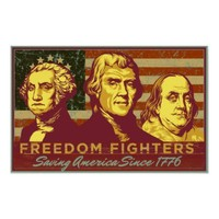 Freedom Fighters Print from Zazzle.com