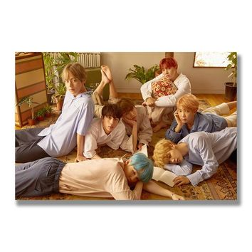 Kpop BTS Music Silk Poster Bangtan Boys Wall Art Print Painting 12x18 13x20 inch Decoration Pictures Wallpaper Bedroom Decor 007
