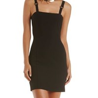 Black Caged-Back Bodycon Dress by Charlotte Russe