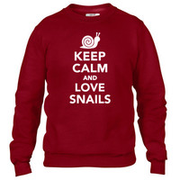 Keep calm and love Snails Crewneck sweatshirt