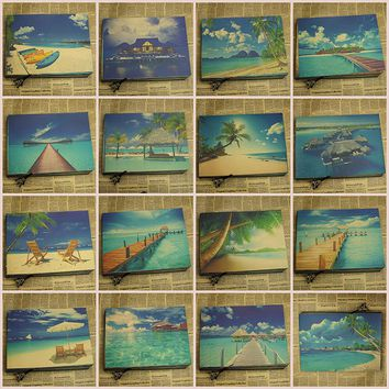 Maldives posters tourist attractions landscapes seas beaches landscapes, decorative paintings/wall sticker
