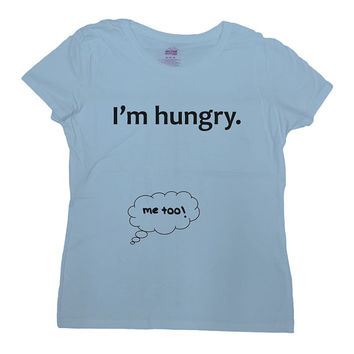 I'm Hungry Baby Shirt Pregnancy T-Shirt Pregnancy Announcement TShirt Pregnancy Reveal New Baby Gift For New Mom Funny Humor Tee - SA440