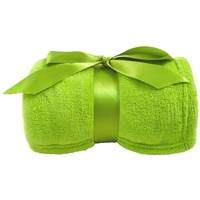 """Simplicity Soft Plush Fuzzy Solid Colored Throw Blanket 42""""x 60"""", Lime"""