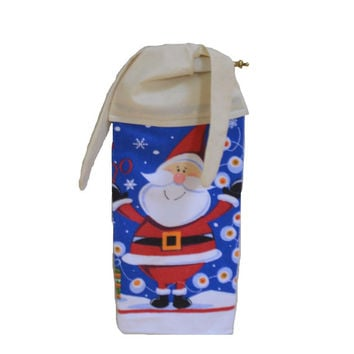 Santa Kitchen Towel, Christmas Decor, Microfiber Towel, Paperless Towel, Hanging Towel, Tie on Towel, Kitchen Decor, Tea Towel, Gift for Her