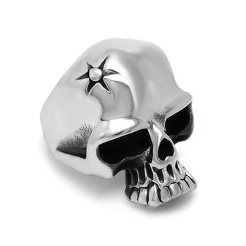 Stylish Jewelry Gift Shiny New Arrival Classics Vintage Titanium Accessory Strong Character Skull Ring [6544843587]