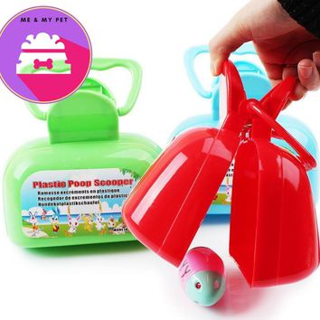 pet dog pooper scooper clean accessories  pet products collecting dung pet cleaning  pooper scooper Different colors supply