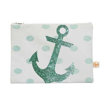 "Nika Martinez ""Glitter Anchor in Mint"" Teal Everything Bag"