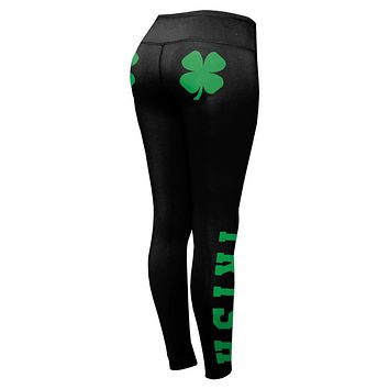 St Patricks Day Irish Shamrocks Womens Performance Leggings