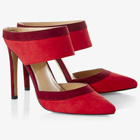 Red Two Piece Runway Mule from EXPRESS