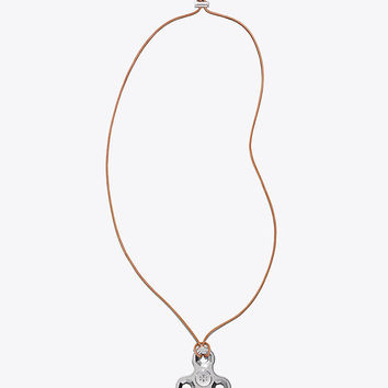 Tory Burch Logo Spinner Necklace