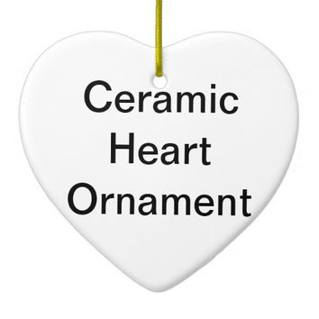 Design Your Own Custom Photo Heart Ornament