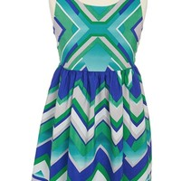 Roxette Chevron Print Dress (Big Girls)