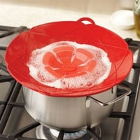 New Arrival Kitchen Gadgets Silicone Lid Spill Stopper Pot Cover 28.5cm Diameter Cooking Pot Lids Utensil