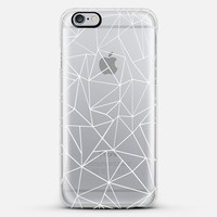 Abstraction Outline White Transparent iPhone 6 Plus case by Project M | Casetify