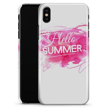 Vivid Pink Hello Summer - iPhone X Clipit Case