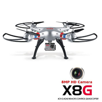 Syma X8G 2.4G 4CH Headless Mode RC Quad-core Helicopter Drones With 8MP HD Camera