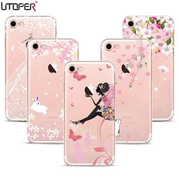 Lace Embossing Silicon Case For iphone 6 6s  7 Soft Plastic Phone Cover