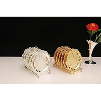 6 Pcs Silver/ Gold Wedding Party Decoration Tray