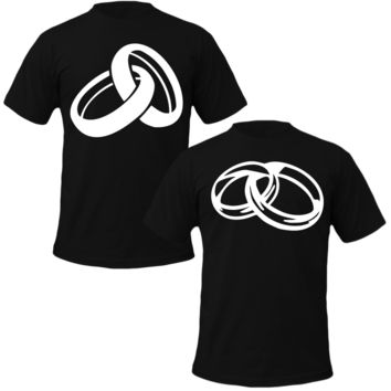 two rings Couple Tshirts
