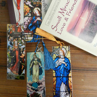 Christian Bookmarks Religious Bookmarks Virgin Mary Bookmarks Laminated Bible Bookmark Gift