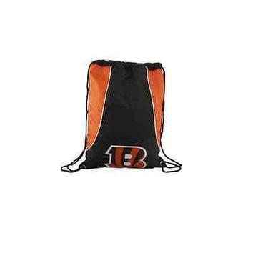 NFL Cincinnati Bengal Axis Backpack Cinch String Bag Tote Drawstring Pouch Sling