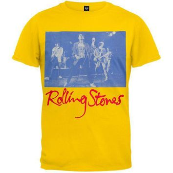 PEAPGQ9 Rolling Stones - Blue Photo T-Shirt