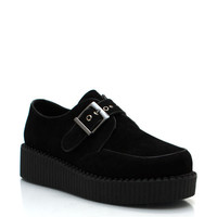 faux-suede-buckle-creepers BLACK COBALT OXBLOOD - GoJane.com