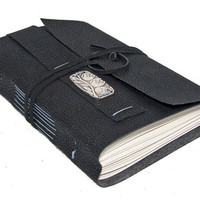 Black Vegan Faux Leather Journal