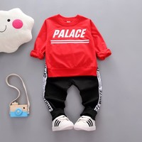 Kids Autumn Clothes Cotton Letter Printed Boys T-shirt Set Casual Children Clothing Girl Winter Clothes For Kids newborn clothes