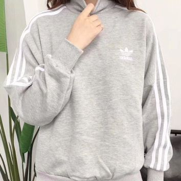 DCCKL72 Adidas trefoil 2017 female fashion leisure sports sweater hoody