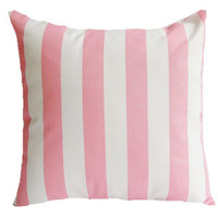 Taylor Marie Decorative Baby Pink Canopy Stripe Throw Pillow Cover | Overstock.com